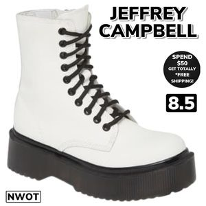 NWOT JEFFREY CAMPBELL Sopas Lugged Boots (8.5)